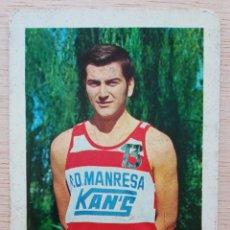 Coleccionismo deportivo: BALONCESTO C.D. MANRESA KAN'S JUGADOR SANTIAGO FRANQUESA CALENDARIO LIGA 1969. Lote 278214153