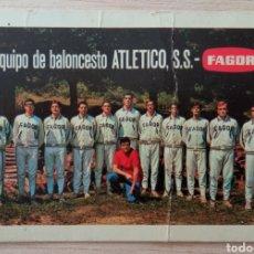 Coleccionismo deportivo: BALONCESTO EQUIPO ATLÉTICO S.S. FAGOR CALENDARIO LIGA TEMPORADA 1968 - 69. Lote 278232058