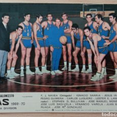 Coleccionismo deportivo: BALONCESTO EQUIPO KAS BILBAO CALENDARIO LIGA TEMPORADA 1969 - 70. Lote 278234343