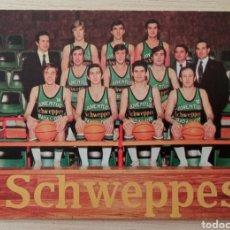 Coleccionismo deportivo: BALONCESTO EQUIPO JUVENTUD SCHWEPPES BADALONA CALENDARIO LIGA TEMPORADA 1973 - 74. Lote 278235308