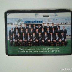 Coleccionismo deportivo: CALENDARIO REAL ZARAGOZA 2001. Lote 278400553