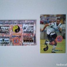 Coleccionismo deportivo: CALENDARIOS PEÑA REAL ZARAGOZA CUARTERO. Lote 278401073