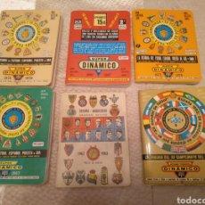 Coleccionismo deportivo: LOTE DE 6 CALENDARIOS DE FUTBOL SUPER DINAMICO. Lote 278430743