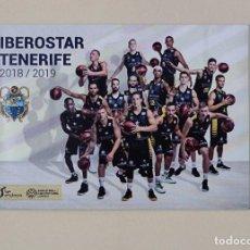 Coleccionismo deportivo: CALENDARIO AÑO 2019 IBEROSTAR TENERIFE CLUB BALONCESTO CANARIAS (TAMAÑO 10 X 7 CM). Lote 151105638