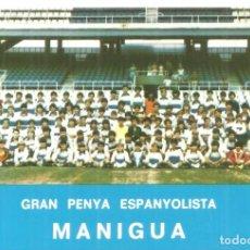 Coleccionismo deportivo: C3.- REAL CLUB DEPORTIVO ESPAÑOL-GRAN PENYA ESPANYOLISTA MANIGUA-CALENDARIO PARA 1982. Lote 286595503