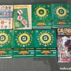 Coleccionismo deportivo: LOTE CALENDARIOS LIGA FUTBOL PRIMERA SEGUNDA DIVISIÓN DIFRERENTES AÑOS. Lote 287497323