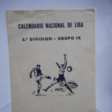 Coleccionismo deportivo: ANTIGUO CALENDARIO FUTBOL.3ª DIVISION.GRUPO IX.JAEN 1986-87.RESTAURANTE RUTA DEL SOL.. Lote 288499163