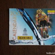 Coleccionismo deportivo: CALENDARIO DE PARED DE CICLISMO DE LA ONCE, SOLAN DE CABRAS, AÑO 2002. Lote 288727198