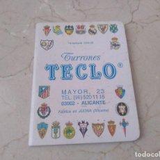 Coleccionismo deportivo: CSLENDARIO TURRONES TECLO FUTBOL LIBRITO. Lote 289487753