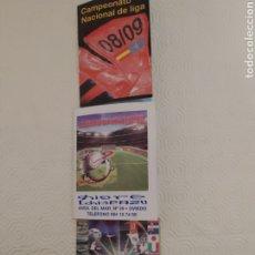 Coleccionismo deportivo: CALENDARIOS FOLLETO DEL CAMPEONATO NACIONAL DE LIGA 2008/2009 2013/2014 Y DEL MUNDIAL DE FÚTBOL SUDÁ. Lote 289585338