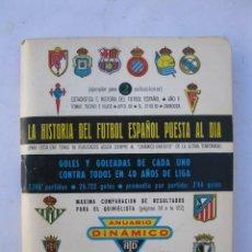 Coleccionismo deportivo: CALENDARIO SUPER DINÁMICO - TEMPORADA 1972-1973 - ESTADÍSTICA E HISTORIA DEL FÚTBOL ESPAÑOL.. Lote 293882973