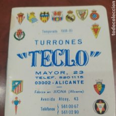 Coleccionismo deportivo: TEMPORADA 1988-89 , TURRONES TECLO.ALICANTE.. Lote 293895038