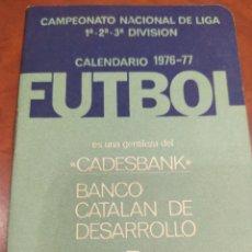 Coleccionismo deportivo: CAMPEONATO FUTBOL 1976 - 77.. Lote 293895763
