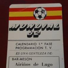Coleccionismo deportivo: CALENDARIO DE PARTIDOS DEL MUNDIAL 82 ESPAÑA 1982. SELECCION ESPAÑOLA FÚTBOL. ASTURIAS. OVIEDO. Lote 293929248