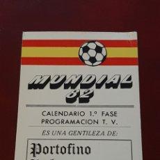 Coleccionismo deportivo: CALENDARIO DE PARTIDOS DEL MUNDIAL 82 ESPAÑA 1982. SELECCION ESPAÑOLA FÚTBOL. ASTURIAS. OVIEDO. Lote 293929848