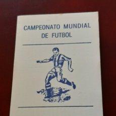 Coleccionismo deportivo: CALENDARIO DE PARTIDOS DEL MUNDIAL DE FUTBOL MÉXICO 86 1986. PUBLICIDAD DE OVIEDO ASTURIAS. Lote 293930043