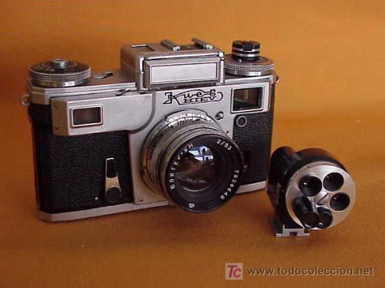 KIEV TIPO CONTAX III.VISOR NO INCLUIDO EN LA SUBASTA (Cámaras Fotográficas - Antiguas (hasta 1950))