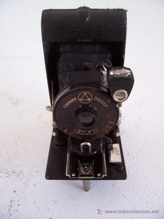 Cámara de fotos: pequeña camara ernemann dresden, rolf I, fabricado en alemania 1924 - Foto 3 - 26992865
