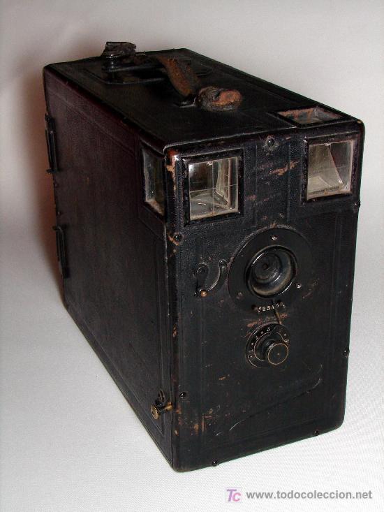 GRAN CÁMARA DE CAJÓN EXPRESS UNIVERSEL DE CARGA MÚLTIPLE - PLACAS 9 X 12 (Cámaras Fotográficas - Antiguas (hasta 1950))