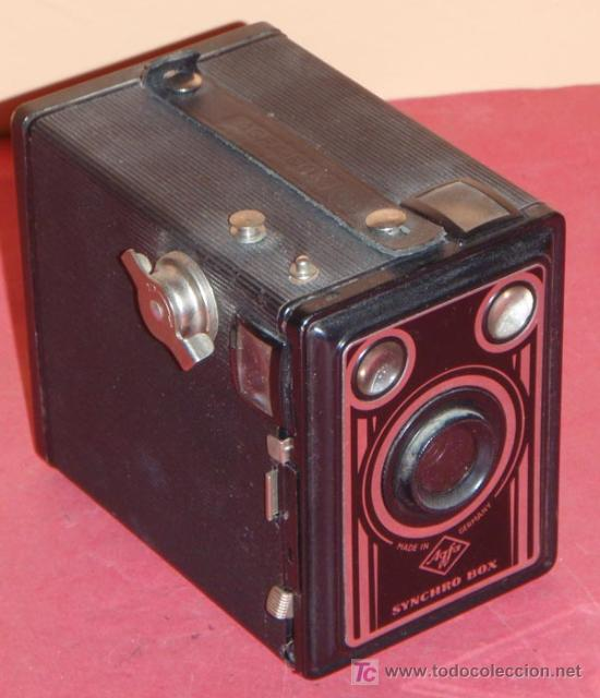 AGFA SYNCHRO BOX DE CAJON (Cámaras Fotográficas - Antiguas (hasta 1950))