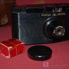 Cámara de fotos: CÁMARA DE COLECCIÓN INGLESA DE BAKELITA, PURMA SPECIAL DE 1937. Lote 24975569
