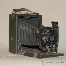 Cámara de fotos: CÁMARA FOTOGRÁFICA DE FUELLE Y PLACA. CIRCA 1890. Lote 22719173