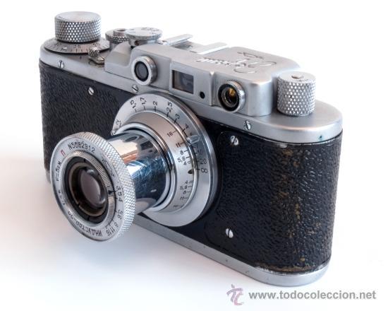 Cámara de fotos: ZORKI 1e + Industar 22 COPIA LEICA + Elmar AÑO 1955 - Foto 2 - 25045385