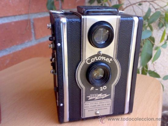 Cámara de fotos: Antigua camara Coronet F-20 Coro-Flash - Foto 2 - 27481300