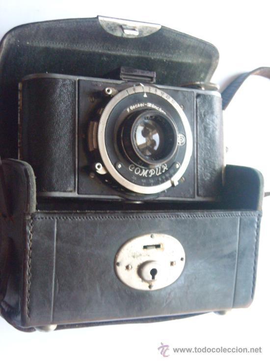 Cámara de fotos: Kochmann, Korelle 4x6.5 film 127 Compur objetivo Vidar 75mm f3,5 Funda origen Año 1931. - Foto 23 - 27726432