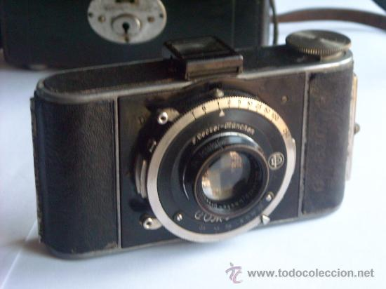 Cámara de fotos: Kochmann, Korelle 4x6.5 film 127 Compur objetivo Vidar 75mm f3,5 Funda origen Año 1931. - Foto 4 - 27726432