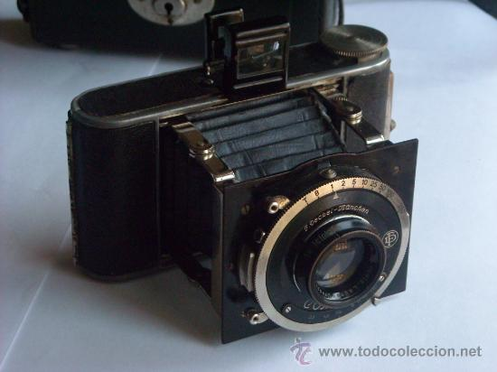 Cámara de fotos: Kochmann, Korelle 4x6.5 film 127 Compur objetivo Vidar 75mm f3,5 Funda origen Año 1931. - Foto 21 - 27726432