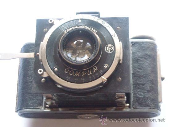 Cámara de fotos: Kochmann, Korelle 4x6.5 film 127 Compur objetivo Vidar 75mm f3,5 Funda origen Año 1931. - Foto 17 - 27726432