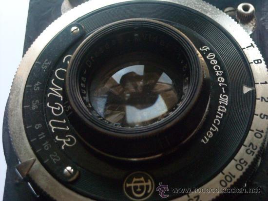 Cámara de fotos: Kochmann, Korelle 4x6.5 film 127 Compur objetivo Vidar 75mm f3,5 Funda origen Año 1931. - Foto 9 - 27726432