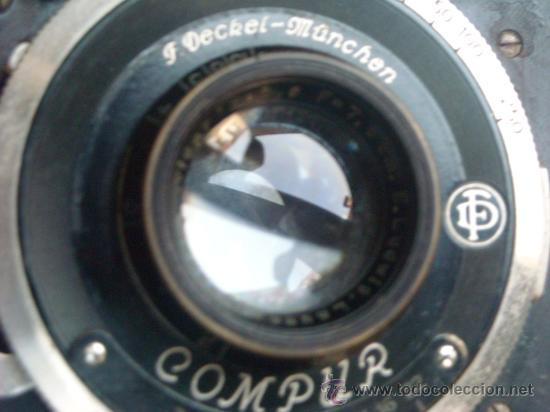 Cámara de fotos: Kochmann, Korelle 4x6.5 film 127 Compur objetivo Vidar 75mm f3,5 Funda origen Año 1931. - Foto 20 - 27726432
