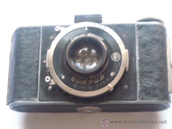 Cámara de fotos: Kochmann, Korelle 4x6.5 film 127 Compur objetivo Vidar 75mm f3,5 Funda origen Año 1931. - Foto 15 - 27726432