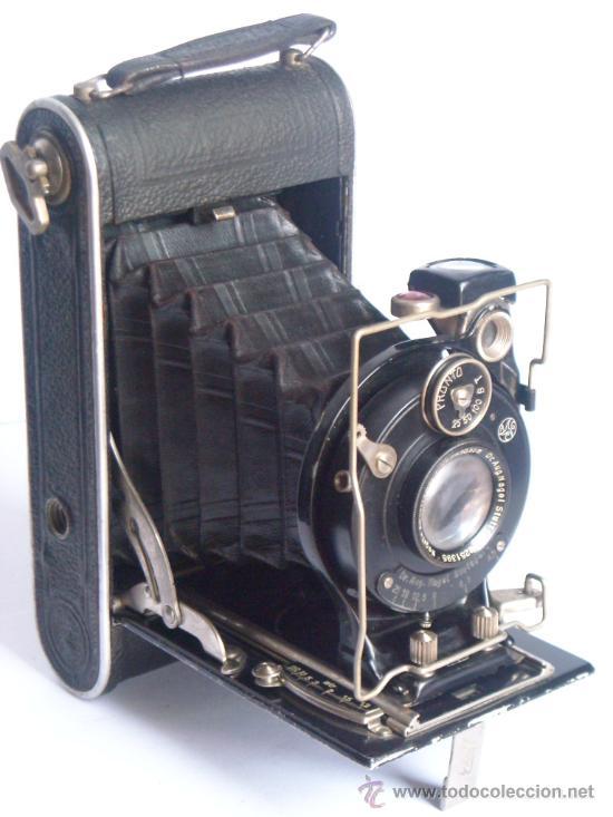 NAGEL DR. AUGUST, LIBRETTE 74 AGC GAUTHIER PRONTO 100 NAGEL-ANASTIGMAT 105MM F4,5 AÑO 1929 (Cámaras Fotográficas - Antiguas (hasta 1950))