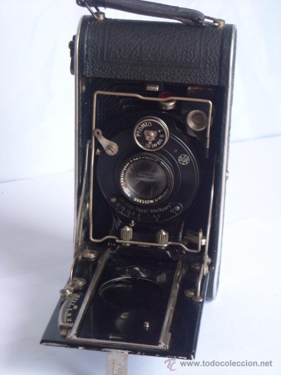 Cámara de fotos: Nagel Dr. August, Librette 74 AGC Gauthier Pronto 100 nagel-Anastigmat 105mm f4,5 Año 1929 - Foto 8 - 28493310
