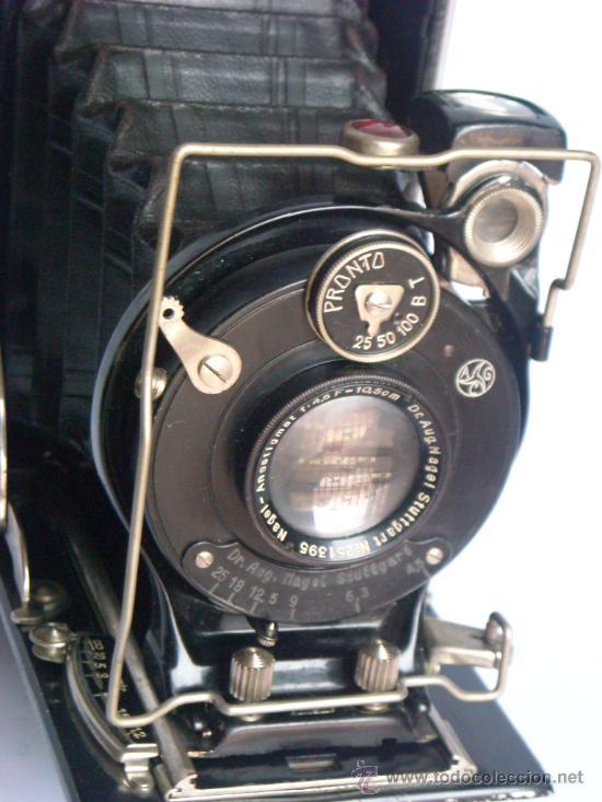 Cámara de fotos: Nagel Dr. August, Librette 74 AGC Gauthier Pronto 100 nagel-Anastigmat 105mm f4,5 Año 1929 - Foto 17 - 28493310