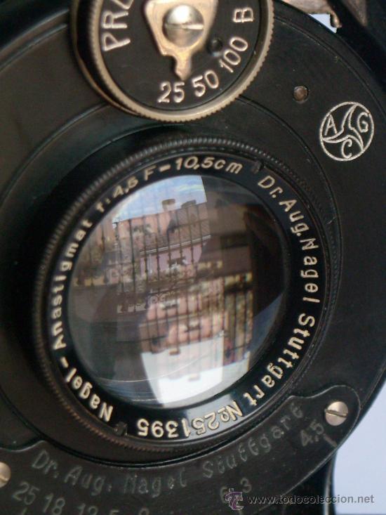 Cámara de fotos: Nagel Dr. August, Librette 74 AGC Gauthier Pronto 100 nagel-Anastigmat 105mm f4,5 Año 1929 - Foto 18 - 28493310