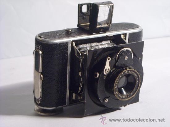 WELTA GUCKI 3X4 FILM 127 SCHNEIDER KREUZNACH RADIONAR 50 F4,5 MODELO ESCASO AÑO 1930 (Cámaras Fotográficas - Antiguas (hasta 1950))