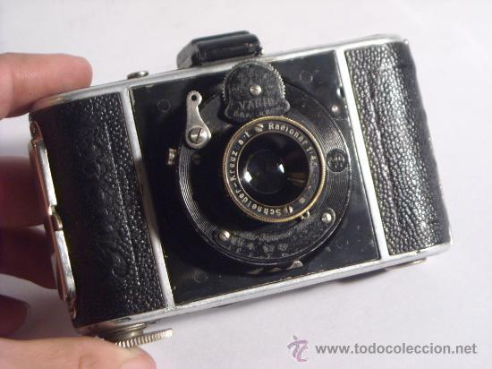 Cámara de fotos: Welta Gucki 3x4 film 127 Schneider kreuznach Radionar 50 f4,5 Modelo escaso Año 1930 - Foto 2 - 29260715