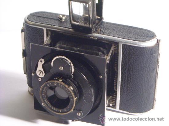 Cámara de fotos: Welta Gucki 3x4 film 127 Schneider kreuznach Radionar 50 f4,5 Modelo escaso Año 1930 - Foto 9 - 29260715