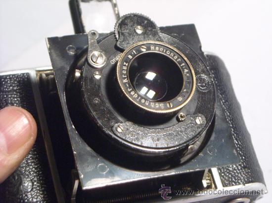 Cámara de fotos: Welta Gucki 3x4 film 127 Schneider kreuznach Radionar 50 f4,5 Modelo escaso Año 1930 - Foto 18 - 29260715