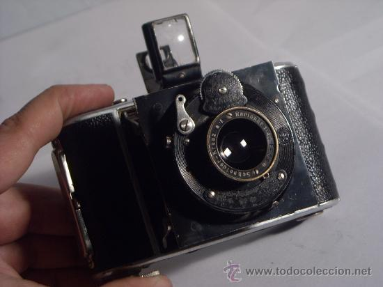 Cámara de fotos: Welta Gucki 3x4 film 127 Schneider kreuznach Radionar 50 f4,5 Modelo escaso Año 1930 - Foto 10 - 29260715