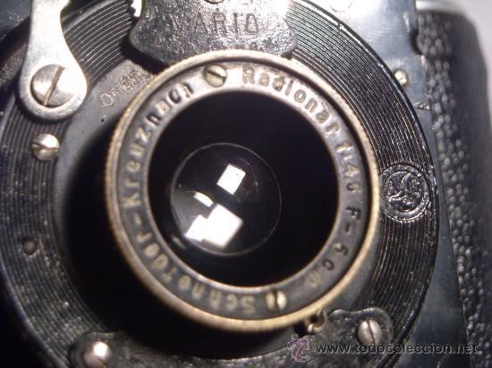Cámara de fotos: Welta Gucki 3x4 film 127 Schneider kreuznach Radionar 50 f4,5 Modelo escaso Año 1930 - Foto 19 - 29260715
