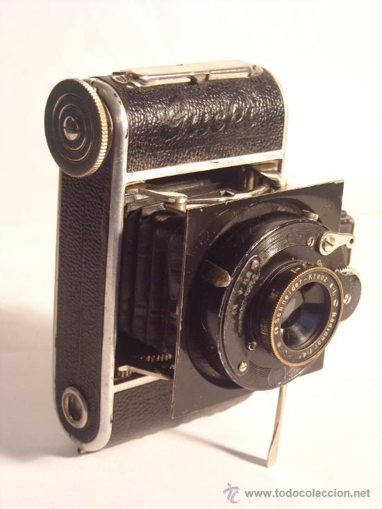 Cámara de fotos: Welta Gucki 3x4 film 127 Schneider kreuznach Radionar 50 f4,5 Modelo escaso Año 1930 - Foto 20 - 29260715