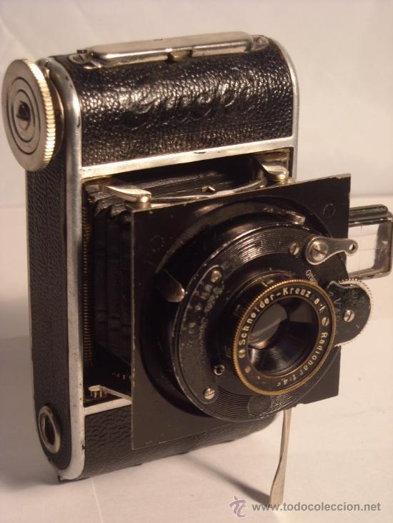 Cámara de fotos: Welta Gucki 3x4 film 127 Schneider kreuznach Radionar 50 f4,5 Modelo escaso Año 1930 - Foto 22 - 29260715