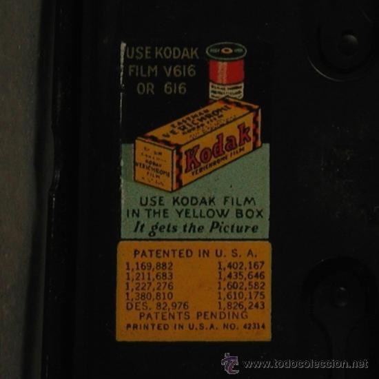 Cámara de fotos: Cámara Fotográfica Antigua. Kodak USA / EE.UU. 1920 - 1930. - Foto 12 - 89867930