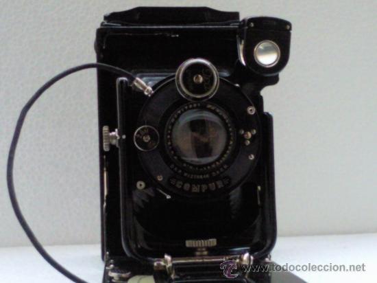 Cámara de fotos: CAMARA FUELLE ,- ICA - COMPUR ,- MOD VOLTA 146/1 ,- CON FUNDA - Foto 3 - 30724563