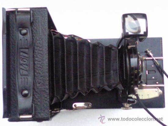Cámara de fotos: CAMARA FUELLE ,- ICA - COMPUR ,- MOD VOLTA 146/1 ,- CON FUNDA - Foto 4 - 30724563